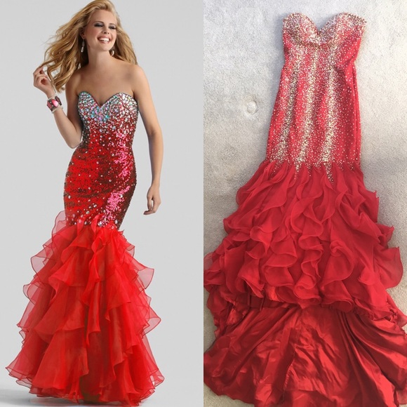 cinderella dresses prom dress mermaid sequin red poshmark